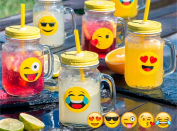 Pack de Jarritas Emoticonos y/o Dispensador de bebidas