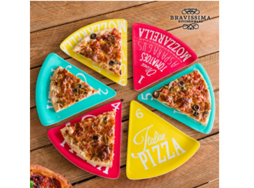 Platos para pizza Colors Bravissima Kitchen