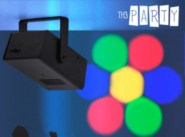 Proyector LED portátil DJ Disco Th3 Party