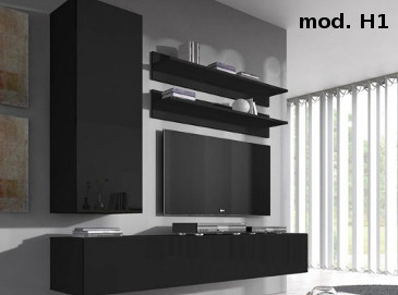 Conjunto Muebles Nerea Color Negro