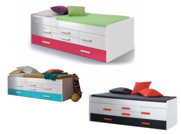 Cama doble Juvenil iPink, iBlue o Graffic